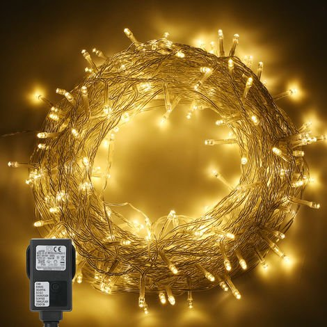 Tomshine 200LEDs String Light 6w 25 meters/82 ft IP44 Water Resistance Eight Lighting Effects