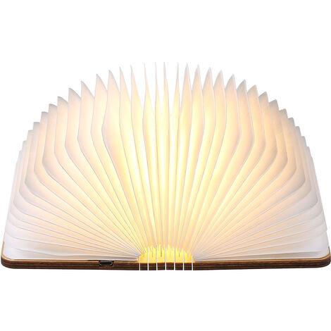 Tomshine 5V 2W 8 LED lampe de livre pliante alimentee par USB, batterie rechargeable de grande capacite1200 mAh integree, blanc chaud