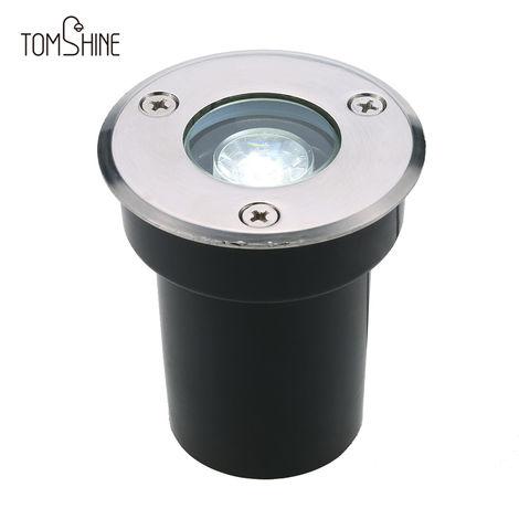 Tomshine, 5W AC / DC 12V LED Lampara de luz subterranea, 550LM, Blanco calido