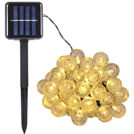 Tomshine 9.35m/30.68ft 50 LEDs Solar Powered String Lights Crystal Ball Globe Lamp IP44 Water-resistant