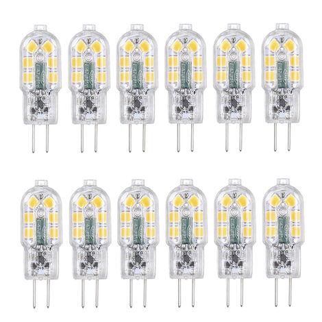 Tomshine Ac / Dc 12V 3W Led G4 Ampoule De Remplacement Equivalent De 30W Lampe Halogene A Economie D'Energie Bi-Pin Base Incassable Remplacement De L'Ampoule 360 ??¡ã Angle De Faisceau 160Lm Non Baissable Non Flicker Pack 12 (3000K Blanc Chaud), 12Pcs
