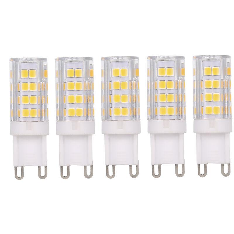 Tomshine AC220-240V 5W LED ampoule de mais G9 base peut remplacer l'ampoule halogene 45W 5pcs 400lm blanc chaud