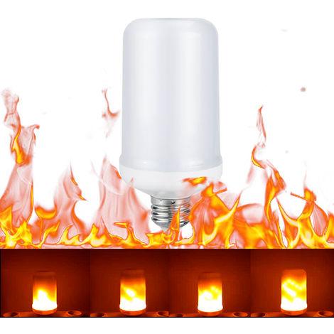 Tomshine, Bombilla LED con efecto de fuego, E26, Siempre brillante / Parpadeo de llama