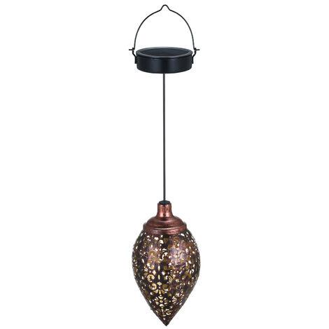Tomshine DC1.2V 0.065W Solar Powered Energy LED Light Lantern Hanging Outdoor Lamp Olive Shape Design