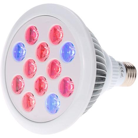 Tomshine, lampara de crecimiento vegetal, 12W, 12 cuentas de lampara, E27