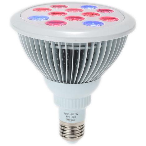 Tomshine LED Grow Ampoule E27 24W usine 12LEDs 3 Blue & 9 croissance rouge lampe plante