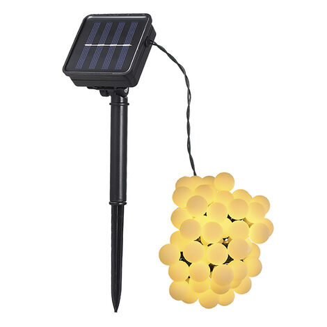 Tomshine, luz de cadena de 50 LED con energia solar, blanco calido