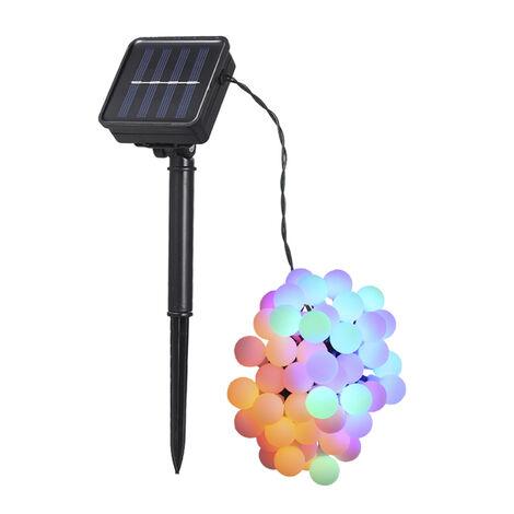 Tomshine, luz de cadena de 50 LED con energia solar, RGB