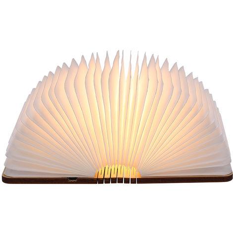 Tomshine, recargable USB LED Mini libro plegable luz, blanco calido