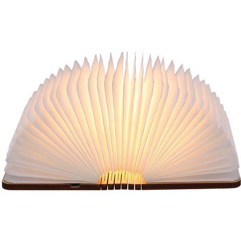 Tomshine rechargeable Port USB LED Mini Folding Livre Forme Lumiere Changable Bureau Portable etage plafond lampe de chevet Fixture d'eclairage pratique et beau utilisation a l'interieur de Noel cadeau ideal