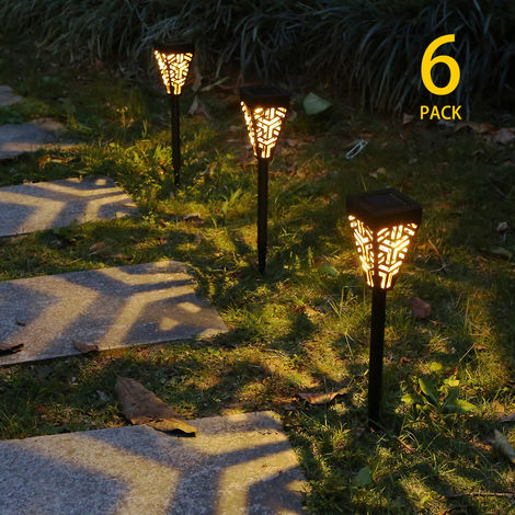 Tomshine Solar Powered Garden Lights LEDs Lawn Lamp Lighting Sensor Decorative Landscape Light IP44 (6pcs Warm White)