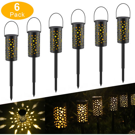 Tomshine Solar Powered Ground Light Outdoor Garden Lights LED Pathway Lantern Stake Lamp Decoration 6 pack