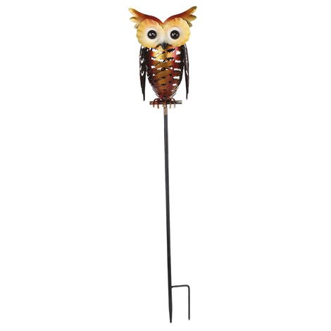 Tomshine Solar Powered Owl Lantern Lights Stake Lamp Metal Owl Decorative LED Garden Landscape Light for Walkway Pathway Yard Lawn