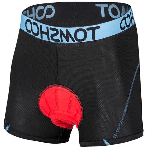 Tomshoo 3D Adjunto Ropa para Hombres Hacer acolchado transpirable Leger Du Velo Velo Bicicleta calzoncillos cortocircuitos Senderismo A Blue M