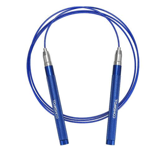 TOMSHOO, cuerda de salto de velocidad ajustable, cuerda de salto,Azul