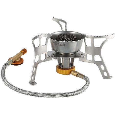 TOMSHOO Mochilero Bote cocina de gas camping al aire libre Cocinar plegable Senderismo Suministro de butano frasco Compatible