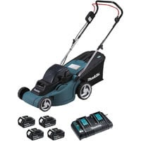 Tondeuse 36V 2x18V Li-ion 38cm + 4 Batteries MAKITA - DLM380PF4