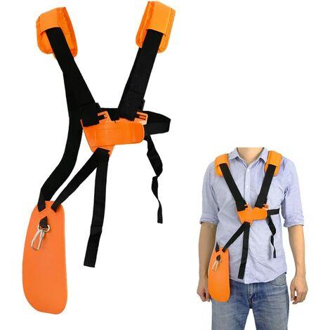 Tondeuse à bandoulière-tondeuse à harnais double épaule avec ceinture de nylon durable Adjuestable pour débroussailleuse ou Gardenning (pour STIHL FS, taille-bordures série km)