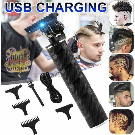 Tondeuse à cheveux électrique sans fil tondeuse à raser étanche Rechargeable professionnel coupe de cheveux ciseaux de coiffure ensemble de coiffeur