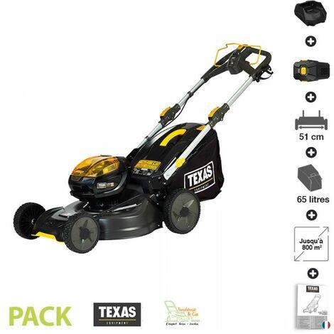 Tondeuse a gazon electrique sur batterie 58 V coupe 51cm Texas LMZ 5800 chargeur et batterie inclus