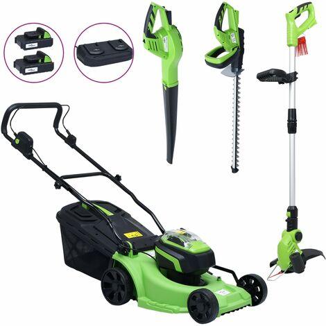 Tondeuse à gazon sans fil et jeu d'outils électriques de jardin