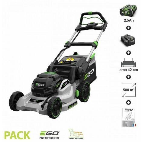 Tondeuse électrique tractée à batterie EGO Power+ coupe 42 cm pack batterie chargeur - LM1701E-SP - Gris