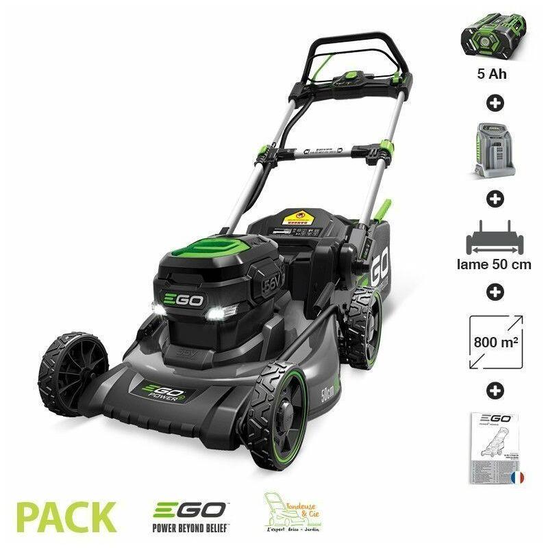 Ego Power+ - Tondeuse gazon batterie Tractée Egopower carter acier 50 cm Batterie 5 Ah et chargeur rapide inclus LM2021-SP