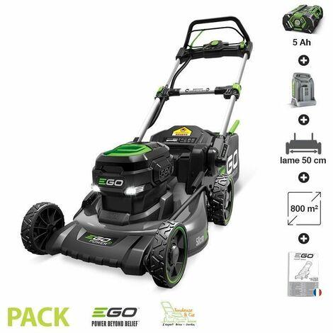 Tondeuse gazon batterie Tractée Egopower carter acier 50 cm Batterie 5 Ah et chargeur rapide inclus LM2021-SP - Gris