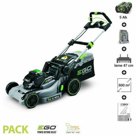 Tondeuse gazon électrique sans fil tractée Ego Power plus coupe 47 cm batterie 56V-5Ah LM1903E-SP - Gris