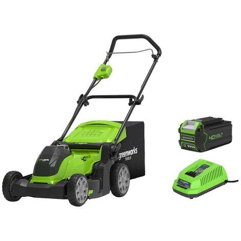 Tondeuse GREENWORKS 40V - Coupe de 41cm - 1 batterie 4.0 Ah - 1 chargeur - G40LM41K4
