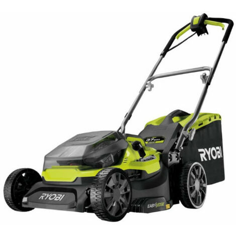Tondeuse hybride RYOBI 36V LithiumPlus coupe 37cm - 2 batteries 5,0 Ah - 1 chargeur rapide RY18LMH37A-250