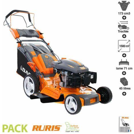 Tondeuse thermique auto propulsée 5 cv 173 cm3 coupe 50cm Ruris 150XL - Orange