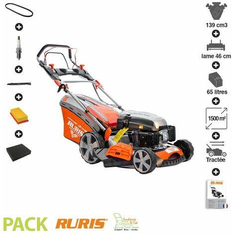 """main image of """"Tondeuse thermique autotractée 139 cc mulching 46 cm kit maintenance Ruris RX300S - Orange"""""""