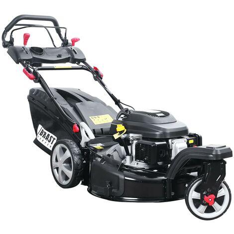 Tondeuse thermique autotractée TRIKE 3 roues 53cm 196cc 60l s/a démarrage électrique et vitesse d\'entraînement triple réglable