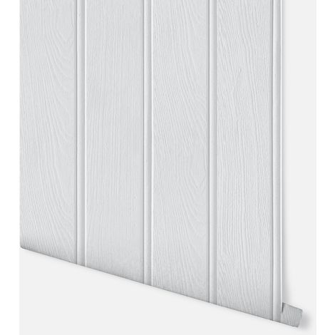 Tongue & Groove Grey Wallpaper - Arthouse - 694300