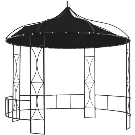 Tonnelle 300 x 290 cm Anthracite Rond