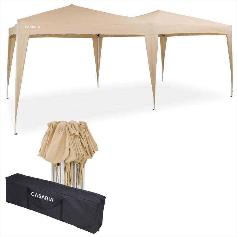 Tonnelle de jardin 3x6m Pop-Up imperméable Protection UV 50+ Sac de transport inclus - Couleur au choix Crème