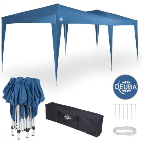 Tonnelle 3x6m Pop-up pavillon réglable bleu sac de transport jardin été