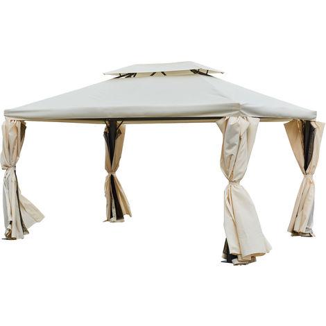 Tonnelle autoportante 3x4m ANTIBES beige - structure aluminium