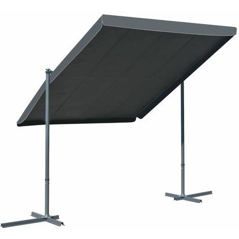 Tonnelle avec toit retractable 350x250x225 cm Anthracite