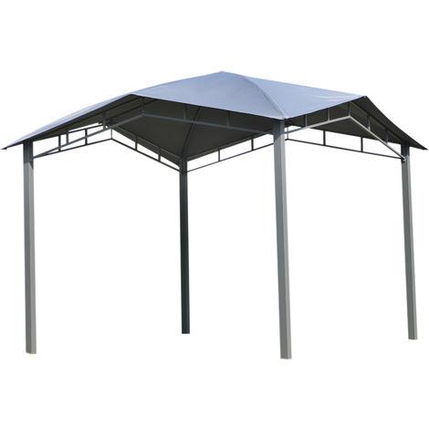 Tonnelle barnum contemporain en dôme dim. 3,00L x 3,00l x 2,60H m métal époxy polyester gris