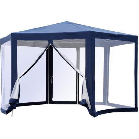 Tonnelle barnum tente de réception hexagonale 10 m² style cosy métal ...