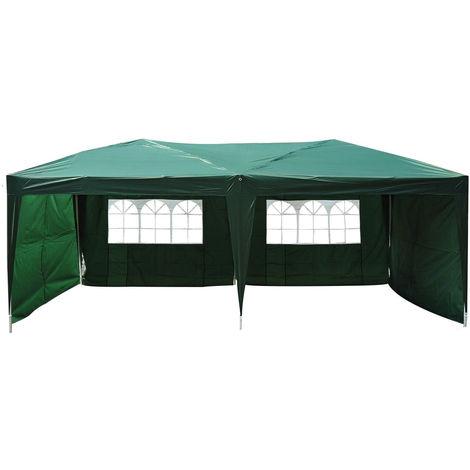 Tonnelle barnum tente de réception pliante 3 x 6 m vert + sac de transport