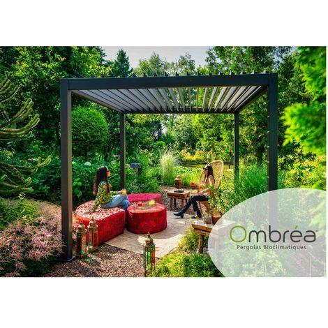 Tonnelle bioclimatique OMBREA® 3,6x3,6 m - Gris anthracite