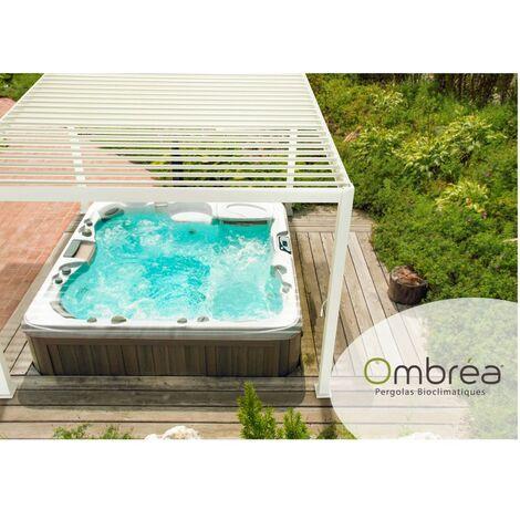 Tonnelle bioclimatique OMBREA® 3x3 m - Blanc - Blanc