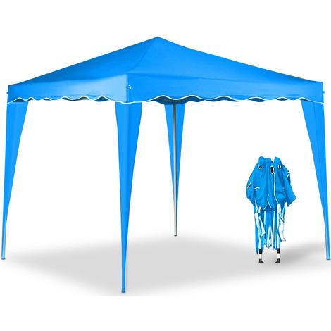 Tonnelle de jardin 3x3m - Tente de reception Bleu - Pavillon de ...