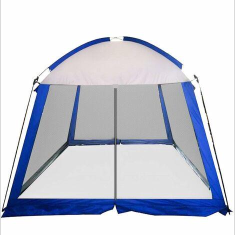 Tonnelle de Jardin 3x6m Imperméable Tente Gazebo Pavillon de Jardin Pliante avec 4 Moustiquaire Latérales pour Extérieur Camping Fête Festival Plage, Rapide à Installer , pour 5-8 Personnes
