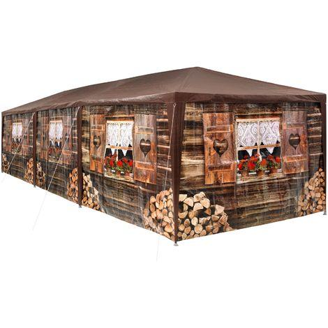Tonnelle de Jardin de Style Alpin 8 Panneaux 27 m²