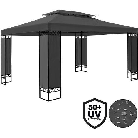 Tonnelle de jardin ELDA - 3 x 4 m - Pavillon - Brun