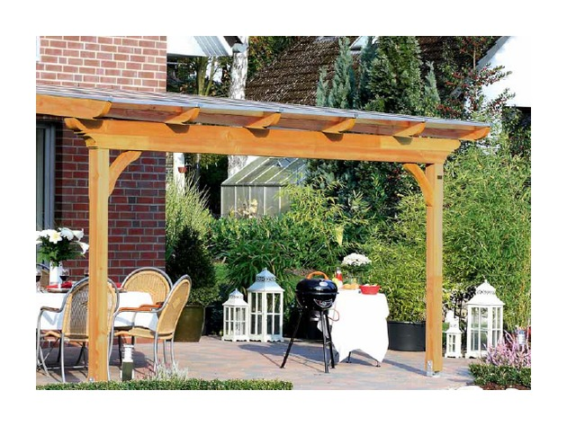 Tonnelle de Jardin en Bois Douglas Epaisseur Poteaux 12 cm